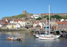 View across Whitby Harbour to the old East Side.